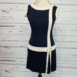 Sophie's Runway navy and cream colored tunic/dress